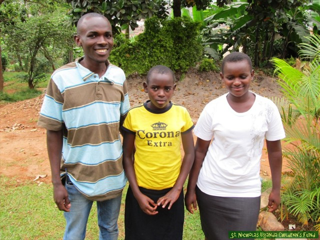 One of our student-headed households: Wycliff, Lynette, and Susan