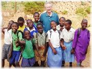 Peter and primary school kids